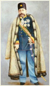 Portrait Of Muzaffar Al-Din Shah Qajar. Persia, C. 1890